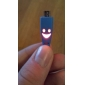 USB Data Cable with LED Gleamy Smiling Face for Samsung Mobile Phone (Assorted Colors)