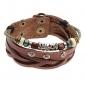 Z&X® Beads Crystal Rivet Leather Bracelet