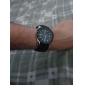 Heren Modieus horloge Kwarts Silicone Band Polshorloge Zwart / Wit / Blauw / Rood / Groen