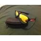 Unisex röda Revo Lens svart ram Oval solglasögon