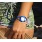 Diamante cas corde alliage montre bracelet à quartz analogique des femmes (couleurs assorties)