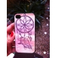 Feathers in the Air Coloured Drawing Pattern Black Frame PC Hard Case for iPhone 4/4S