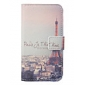 Cartoon Eiffel Tower Pattern Leather Hard Case for iPhone 4/4S
