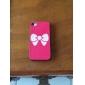 Taches blanches bowknot Quatrième de couverture pour iPhone 4/4S