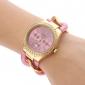 quartz analogique Diamante cas alliage bracelet de montre des femmes (couleurs assorties)