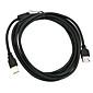 3m usb2.0 extention kabel (af, svart)