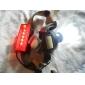 ultrafire Cree XM-L T6 einstellbarer Fokus Zoom 2-Modus weißes Licht + rote Warnleuchte Scheinwerfer (1x18650)