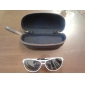 Unisex Gradient Blue Lens White Frame Aviator Sunglasses