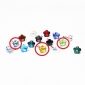 3.5mm Crystal Flower Pattern Anti-dust Earphone Jack (Random Colors)