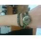 Frauen-Quarz-analoge Vintage-Stil Lederarmband Uhr (farblich sortiert)