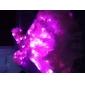 3m 30-ledda rosa ljus 2-läge LED string fairy lampa för jul (3xaa)