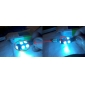 T10 1.5W 9x5050SMD Ice Blue Light LED Bulb for Car Instrument/License Plate Lamps (DC 12V, 1-Pair)