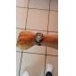 Reloj Pulsera Quartz Análogo de Hombre Con Correa de Cuero - Negro