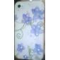 синий узор цветы жесткий футляр для 4 iphone и 4s