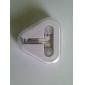 nye ankomst mikrofon udføres in-ear øretelefon hovedtelefoner (hvid)