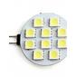 Faretto LED, spot, G4 2W 10x5050SMD 80LM 5500K, luce naturale (12V)