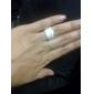 Anéis Jóias Prata de Lei / Liga Anéis GrossosAjustável Prateado