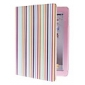 Colorful Stripes Pattern PU Leather Case with Stand for iPad 2/3/4
