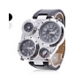 Men's Watch Military Multifunction Dual Time Zones Compass and Thermometer