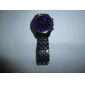 Blue LED Mirror Face Wrist Watch