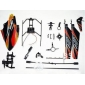 KV911-0001 Skid Landing Canopy Blades Solde Bar Accessory Pack de rechange pour R / C Helicopter V911