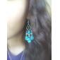 Earring Drop Earrings Jewelry Women Party / Daily Sterling Silver / Gem / Turquoise Silver / Green