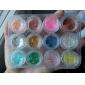 12 Colors Nail Art Glitter Dust Powder Decoration