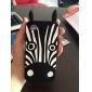 Etui Souple pour iPhone 4/4S, Motif Zebré