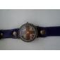 Women's the Union Jack Style Leather Analog Quartz Wrist Watch (Assorted Colors)