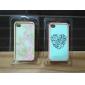 design requintado padrão de flor 2 em 1 pára-choques e do caso para o iphone 5/5s