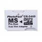 Dual microSD / hc MS Pro Duo Memory Card-Adapter (weiß)