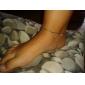 Heart Shape Zircon-Studded Anklet