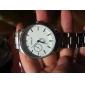 Men's Simple Dial Silver Alloy Quartz Wrist Watch (Assorted Colors)