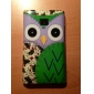 Глядя Мультфильм Сова с багрового лица и вишни шаблон Крылья Футляр для LG E400 Optimus L3