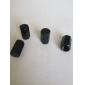válvulas de pneus de luxo caps / hastes pretas para o carro (4 peças por pacote)