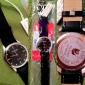 Diamant style cuir PU analogique montre bracelet à quartz décontractés pour femmes (Balck)
