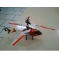 Hélicoptère de contrôle à distance de 2,5 channle (orange / rouge / jaune / modèle: 308)