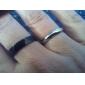 Eruner®Titanium Steel Black Grind Arenaceous Polygon Ring