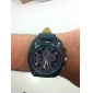 Masculino Relógio Elegante Quartz PU Banda Relógio de Pulso Preta