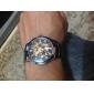 Reloj Pulsera Gótico Contemporáneo, de Mecanismo Análogo Visto y Correa Metálica  9269, para Hombre - Negro
