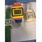 Montre LED Style Lego, Avec Lumière Nocturne - Multicolore