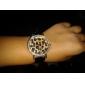 vrouwen luipaard print wijzerplaat pu band quartz analoog horloge (verschillende kleuren)