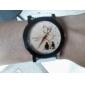 relógio padrão amantes pu pulseira de couro de pulso de quartzo das mulheres (cores sortidas)
