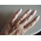 lureme®alloy anillo patrón de circón copo de nieve (tamaño de azar)