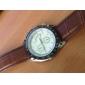 Hombre Reloj de Vestir Cuarzo PU Banda Reloj de Pulsera Negro / Blanco / Marrón