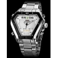 WEIDE® Men's Watch Dress Watch Triangle LED Multi-Function Dual Time Zones Water Resistant