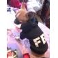 vellones sudaderas estilo patrón noctilucentes fbi para perros (negro, xs-l)
