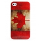 Protective Retro Style Polycarbonate Case for iPhone 4 and 4S (Canadian Flag)