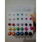 Lureme®Alloy Pearl Earrings Set(15 Pairs)