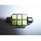 36mm 6 SMD Super White 5500K LED Light Bulb